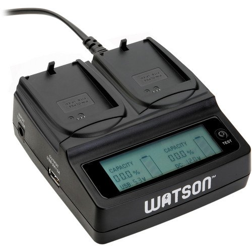 Watson Duo Lcd Charger With 2 Lp-E5 Battery Plates - For Canon Lp-E5 Type Battery