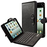 Cooper Cases(TM) Infinite Executive Acer Iconia A1-810 Tablet Keyboard Folio in Black (Leather Cover, Stand Feature, Buckle-Style Closure, English QWERTY Keyboard)