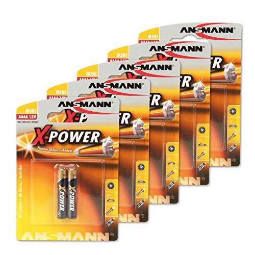 Ansmann 1510-0005-590 Pack de 10 Piles Alkaline AAAA