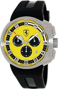Ferrari Men's F1 FE-10-ACC-CG-FC-YW  Podium Yellow Dial Chronograph Swiss Watch