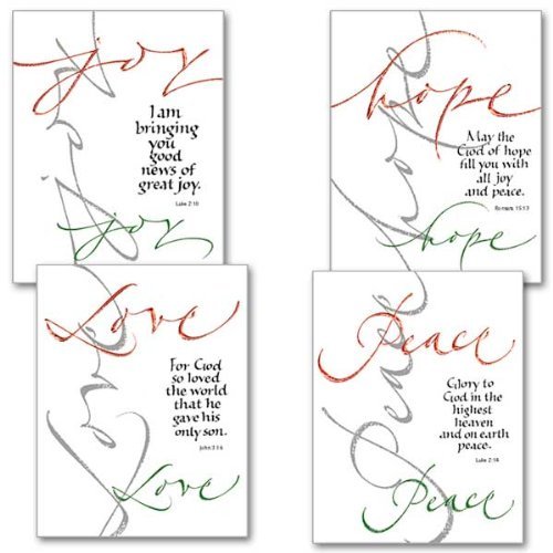Peace, Hope, Love, Joy Petite Note Christmas