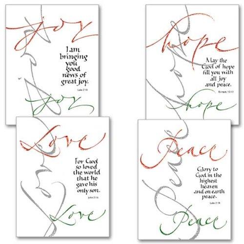 Peace, Hope, Love, Joy Petite Note Christmas