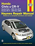 Honda Civic 2001 Thru 2010 & CR-V 2002 Thru 2009