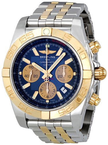 Breitling Chronomat 44 Blue Dial Steel and Gold Automatic Mens Watch CB011012-C790TT