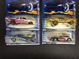 2002 Hot Wheels CANDY SERIES diecast cars (Set of 4) '70 Chevelle Mustang Cobra Chevy Pro Stock Truck Firebird Butterfinger Crunch Baby Ruth Spree
