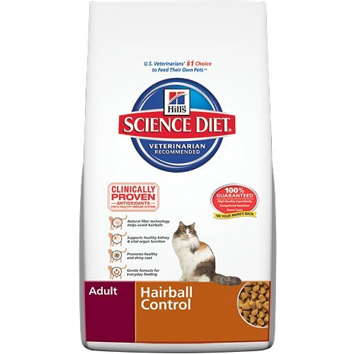 Image of Hill's Science Diet Adult Hairball Control Dry Cat Food, 7-Pound Bag