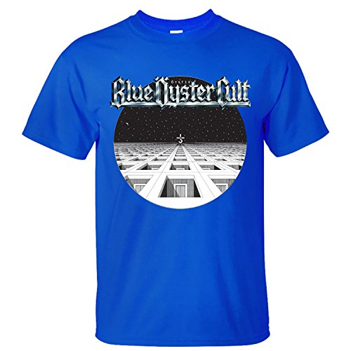 XBANM Men's Blue Oyster Cult Casual Shirts blue XL (The Blue Oyster Cult Shirt compare prices)