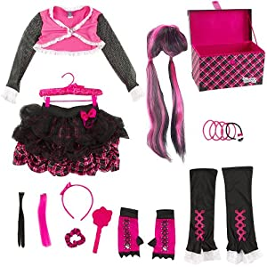 Monster High Dress Up Set and Fangtastic Storage Trunk - Draculaura