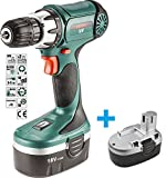 Cordless Screwdriver 18v cordless electric screwdriver drill charger, case Akkubohrer   incl.2 x battery, Drill & Bit Sets,