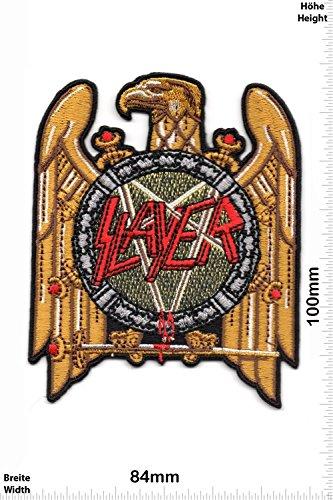 Patch - Slayer - HQ - MusicPatch - Rock - Chaleco - toppa - applicazione - Ricamato termo-adesivo - Give Away