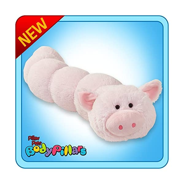 Pillow Pets Body Pillars Squiggly Pig Stuffed Animal Plush Toy
