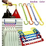 Generic Random Colors Magic Clothes Towel Hanger Hook Closet Space Saver Storage Chest(Pack of 5: Random color)