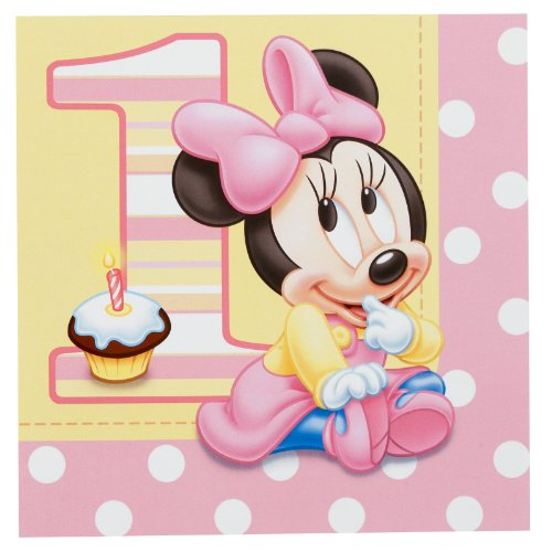 Disney Minnie's 1st Birthday Lunch Napkins (16) - 1