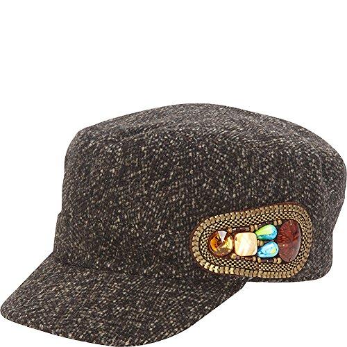 magid-tweed-wool-cadet-cap-with-stone-side-trim-black