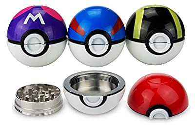 "Pokemon Herb Grinder 3 piece 2.2"" / 55mm weed, spice, spice, food, tobacco grinder with catcher - by Hobby Lifestyle"