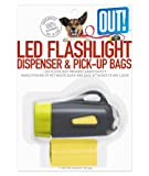 OUT! Flashlight Dispenser & Dog Waste Pick-Up Bags, 30-Pack