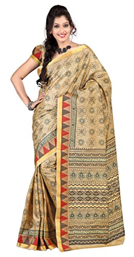 Triveni Indian Sari Traditional Classy Printed Casual Wear Cotton Silk Saree