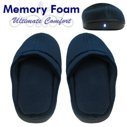 Cheap Contour Light-Up LED Slippers with Memory Foam, Medium (80-52044)