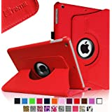 Fintie Apple iPad Air Case - 360 Degree Rotating Stand Case Cover with Auto Sleep / Wake Feature for iPad Air / iPad 5 (5th Generation) - Red
