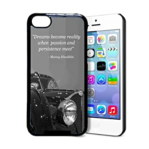 Manny Khoshbin Inspirational Quote Bugatti iPhone 5c Case - Fits iPhone 5c