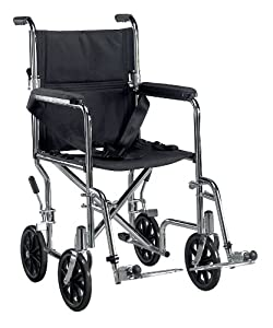 Drive Medical TR19 Transport Chair, 19 Inch