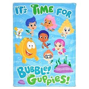 Nickelodeon Bubble Guppies Wave Plush Blanket, Multi