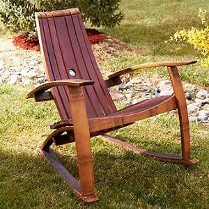 Amazon Com Wine Barrel Stave Adirondack Rocking Chair