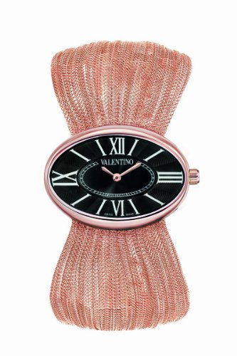Valentino Women's V43MBQ5014S080 Seduction Rose Gold-Plated Oval Plisse Bracelet Watch