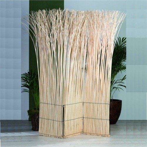 ROOM DIVIDER NATURE PARTITON folding screen paravent bleached from XTRADEFACTORY