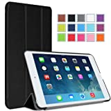 MoKo Apple iPad Mini with Retina Display Case - Ultra Slim Smart shell for Mini 2 (2013) and Mini 1 (2012 Edition), BLACK (With Smart Cover Auto Wake / Sleep)