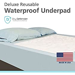 Washable Waterproof Mattress Sheet Protector Bed Underpad - Large 36 x 54 inches