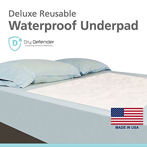 Washable Waterproof Mattress Sheet Protector Bed Underpad - Large 36 x 54 inches (Adult Bed Sheets compare prices)