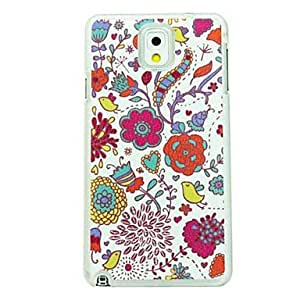 Colorful Flowers Leather Vein Pattern Hard Case for Samsung Galaxy Note 3 N9000