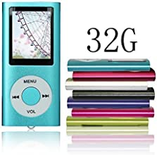 Tomameri Blue Portable MP4 Player MP3 Player Video Player with Photo Viewer , E-Book Reader , Voice Recorder with 32 GB Micro SD Card