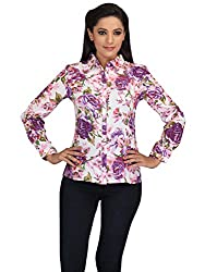 lol Multi-Coloured Color Floral Casual Top for women
