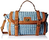 Covo Women's Satchel (Saddle and Blue)