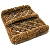 Lawn & Patio - Herringbone Coir Boot Scraper Brush - 2.5 x 12 x 13 inches - Unbleached Coir Shoe Scraper