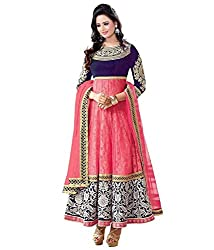Shree Khodal Women's Pink Velvet Dress Material [SK_JCN1109_A]