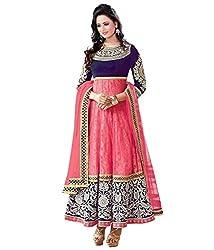 Diya Women's Pink Velvet Designer Dress Materials [DS_JCN1109_E]