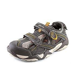 Stride Rite Boy\'s M2P Soni (Toddler/Little Kid) Cinder/Taupe Sandal 9.5 Toddler M
