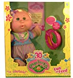 Cabbage Patch Babies Blonde Hair Wearing Striped Romper Suit - Fun To Feed - Celebrating 30 Years
