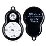 Control 5ive HRH-338 inalámbrico Bluetooth 3.0 de música y cámara para teléfonos inteligentes y tabletas IOS y Android, negro