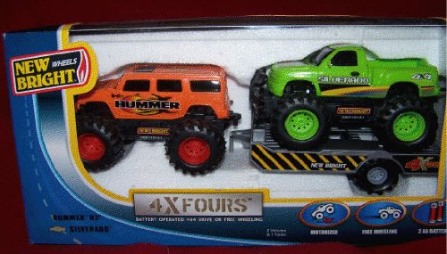 New Bright Off Road Trucks Hummer H2 and Chevy Avalanche (Hummer H2 Truck compare prices)