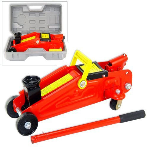 'Jack-in-a-Box' 2-Ton 4000 Lb Lift Capacity Easy-Carry Hydraulic Jack with Storage Case