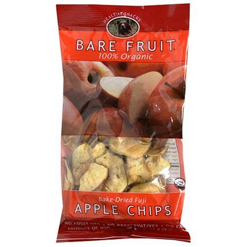 Bare Fruit 100% Organic Bake-Dried Fuji Apple Chips, 2.6 Ounce Bags (Pack of 12)
