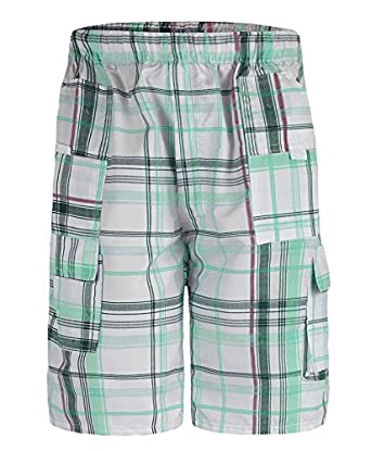Boys Checked Shorts L-45 in Mint 11-12 Years
