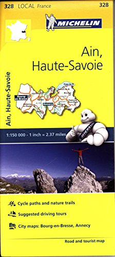 Mapa Local Ain, Haute-Savoie (Michelin Local Maps)
