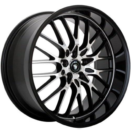 17x8 Konig Lace (Gloss Black w/ Machined Face) Wheels/Rims 5x112 (LA78512355)