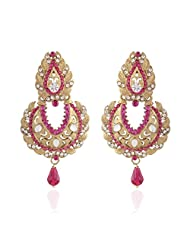 I Jewels Tradtional Gold Plated Elegantly Handcrafted Pair Of Fashion Earrings For Women. - B00N7INOPK