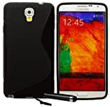 Ownstyle4you Protective Silicone TPU Case Skin Cover for Samsung Galaxy Note 3 NEO incl. Screenguard and Touchpen S-Line black